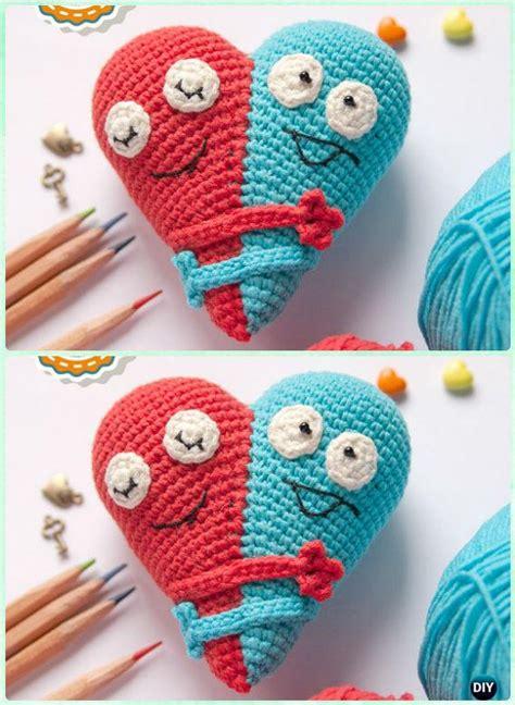 amigurumi crochet  heart  patterns perfect valentine