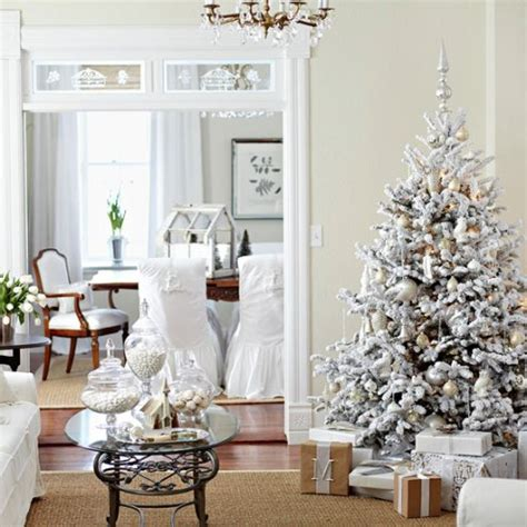 wintery whites christmas trees  collected room