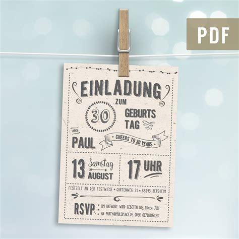 retro einladung zum geburtstag hell postkarte digital