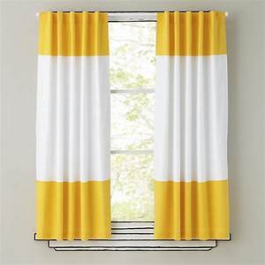 "84"" Color Edge Curtain Panel (Yellow) The Land of Nod"