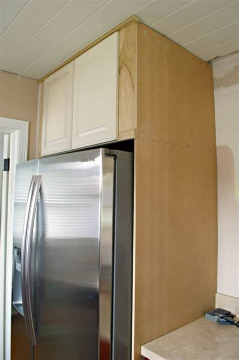 cabinets around fridge how to build a diy refrigerator cabinet chatfield court