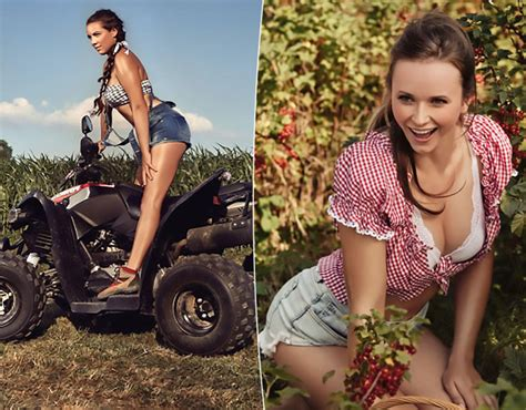 german farm girls strip off for calendar to show sexy
