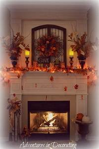 Adventures, In, Decorating, Our, Fall, Mantel