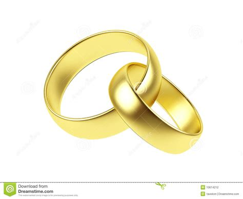 two wedding ring on a white background stock photography