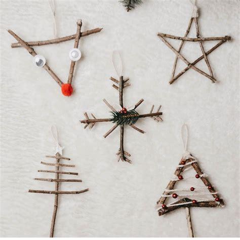 5 bezaubernde ideen f 252 r christbaumschmuck aus zweigen