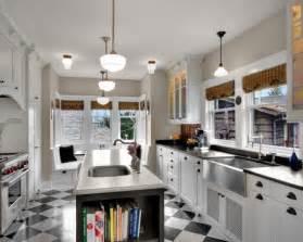 Galley Kitchen With Island Layout Galley Kitchen Island Design Kitchens