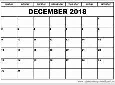 Calendar December 2018 Template Download Archives Free
