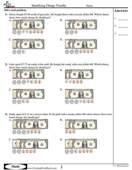 worksheets money change identifying coins worksheets homeschooldressage