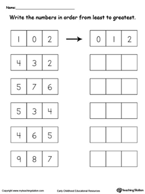 greater  worksheet comparing numbers