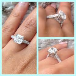 3 band wedding ring my cushion cut micro pave engagement ring weddingbee photo gallery