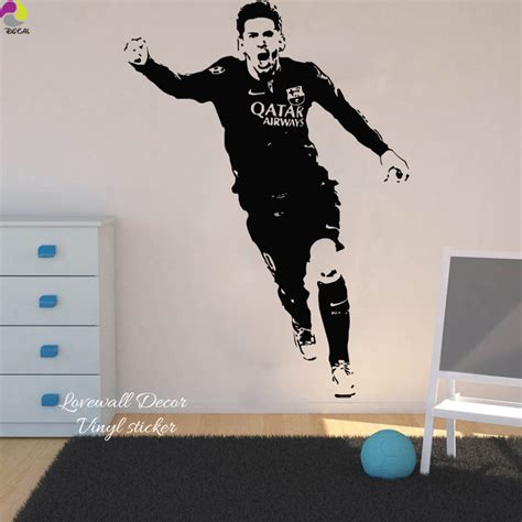lionel messi barcelona football player wall sticker