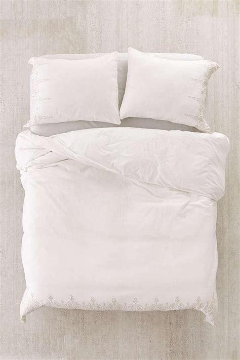 emma white embroidered duvet cover