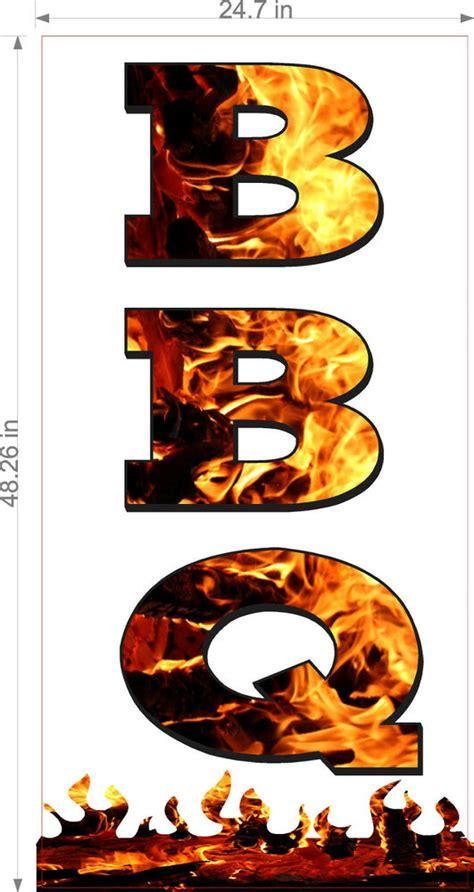 vinyl banner bbq vertical barbecue food sign ebay