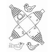 Cute Printable Birdhouse Template  Coloring Pages & Basic
