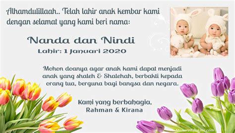 ucapan kelahiran anak secara islam gaol
