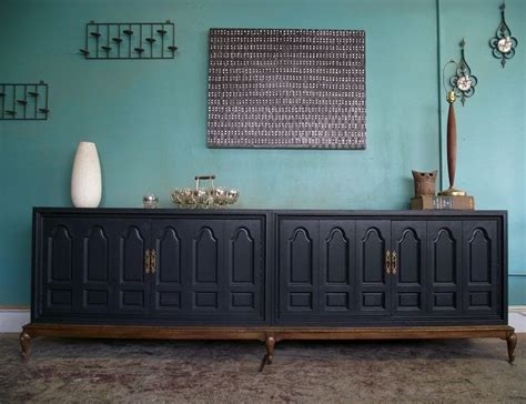 Large Sideboards And Buffets by Vintage Ground Large Vintage Charcoal Buffet Sideboard