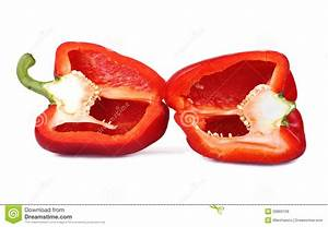 Red Bell Pepper Cut Royalty Free Stock Images - Image ...
