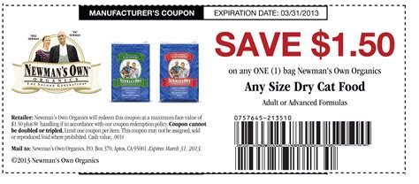 promo cuisine newmans own organic cat food coupon