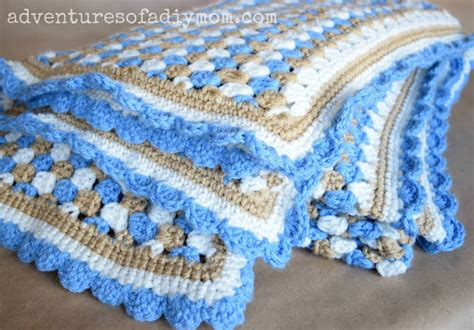Granny Stripe Crocheted Blanket Doll Blankets To Crochet Security Blanket What Age Beach Babylon Cast Members Personalised Ireland Saddle Nz Electric On Fire Baby Easy 100 Cotton For