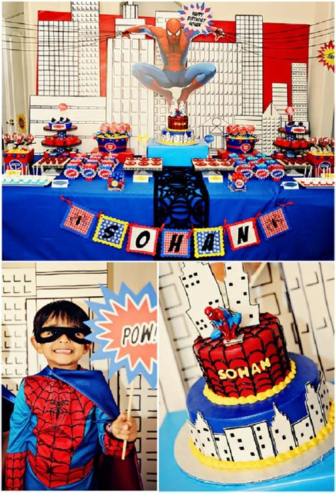 Boys Party Ideas  A Spiderman Inspired Super Hero