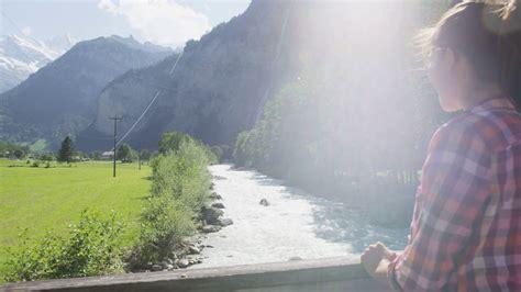 Direction Signs Alpine Hikes Alps Switzerland Stock Photo Switzerland Nature Swiss Alps Landscape With River Weisse
