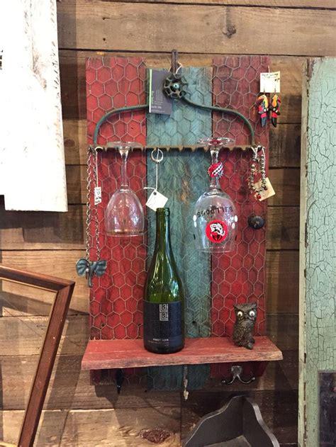 wine rack jewelry display  pallets   rake head