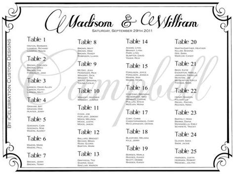 bridal shower seating chart template free wedding table seating plan template wedding