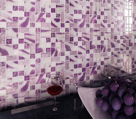 purple kitchen backsplash crackle glass wall tiles mh01 mosaic tile