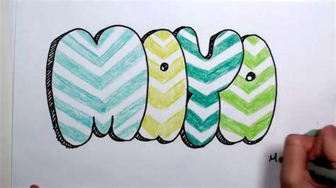 draw bubble letters maya  graffiti letters mlt