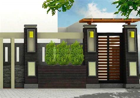 fence design minimalist home gallery  small home designs