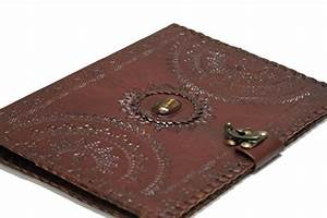 blf vintage handmade embossed leather portfolio resume pad With leather resume holder