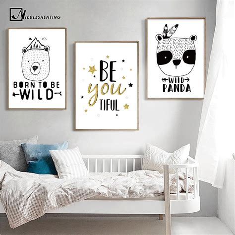 motivational quotes posters prints bear panda poster black
