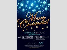 Creative christmas poster psd material Fashion PSD File