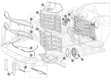 2004 Chevy Silverado Front End Part Diagram by 47 55 Series Chevrolet Rust Repair Panels