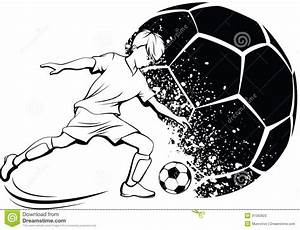 Boy Soccer Player With Splatter Ball Stock Image - Image ...