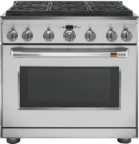 cafe cgypms   freestanding professional gas range  convection stainless steel