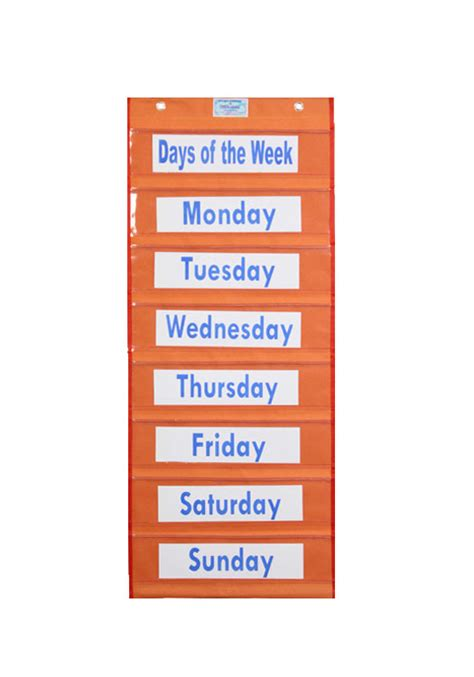 Days Of The Week Chart  Charts Unlimited