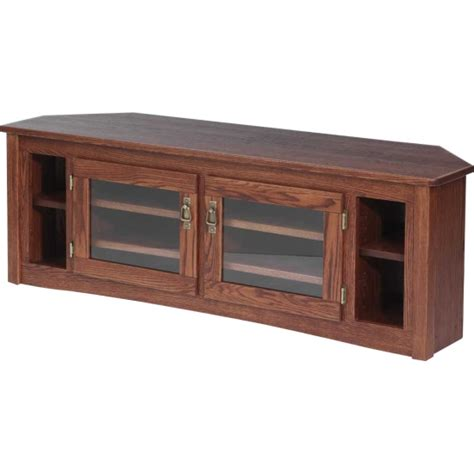 furniture cherry end tables solid oak mission style corner tv stand 60 quot the oak