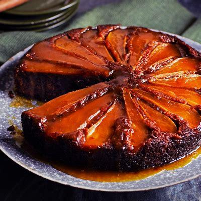 spiced pear  rye cake