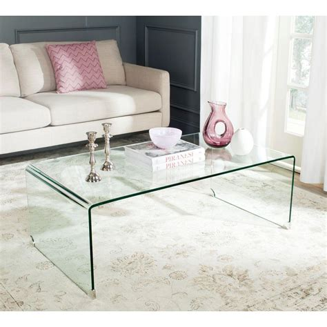 safavieh coffee table safavieh willow clear coffee table fox6014a the home depot