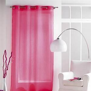 Rideau Voilage Rouge : rideau voilage paloma 140x240cm rouge ~ Teatrodelosmanantiales.com Idées de Décoration