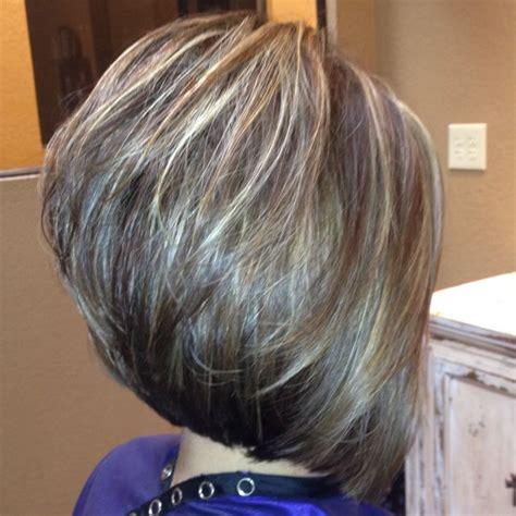 hair styles for thin hair layered stacked bob stacked layered bob hairstyles 1398