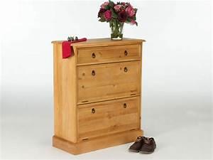 Meuble Chaussure Bois Massif : meuble chaussure bois ~ Teatrodelosmanantiales.com Idées de Décoration