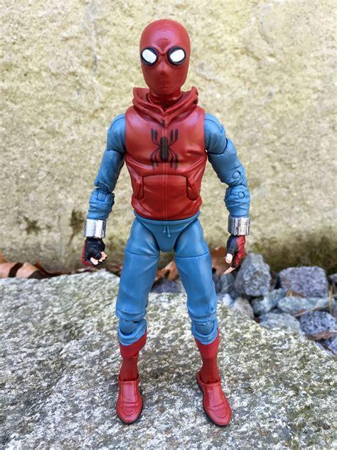 marvel legends homemade suit spider man figure review