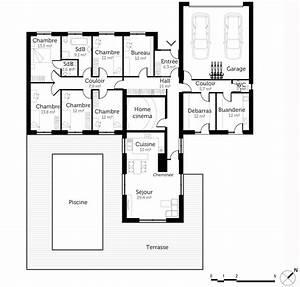 Plan maison 200 m² de plain pied Ooreka