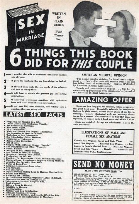 Vintage Sex Instruction Book Ads Woman Safe Flashbak