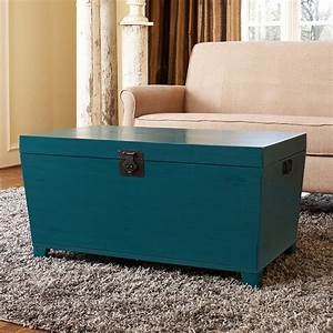Turquoise pyramid trunk coffee table asian coffee for Overstock trunk coffee table
