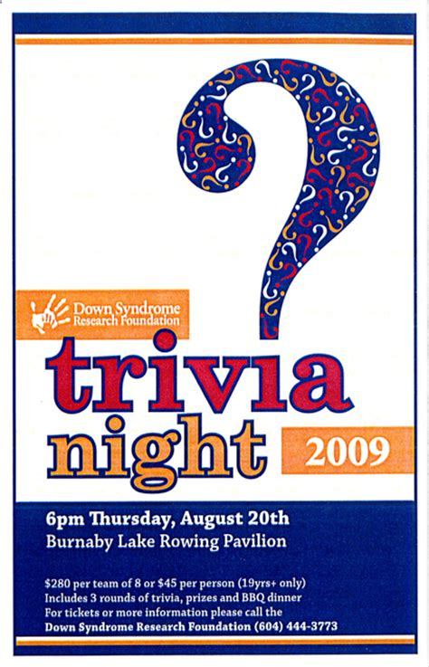 trivia night flyer templates dsrf trivia night developmental disabilities association