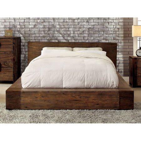 furniture  america elbert queen platform bed  rustic
