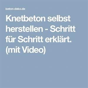Modelliermasse Selbst Herstellen : knetbeton selbst herstellen schritt f r schritt erkl rt mit video wichtig knetbeton ~ Buech-reservation.com Haus und Dekorationen